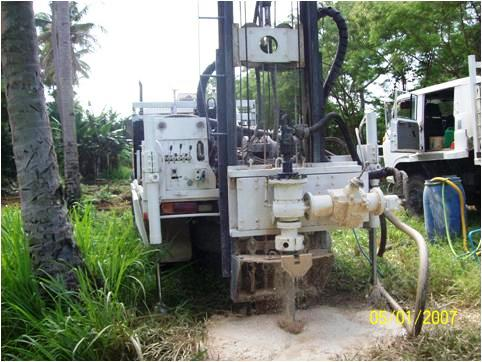 Groundwater Drilling Machinery at work.